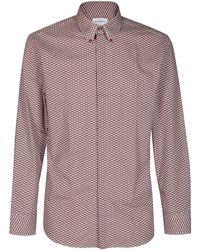 Ferragamo Graphic Patterned Tuxedo Shirt - Multicolour