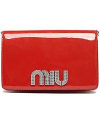 Miu Miu - Patent Leather Clutch - Lyst