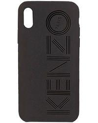 KENZO Logo Printed Iphone Xs Case - Black