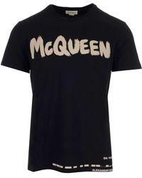 Alexander McQueen Cotton T-shirt - Black