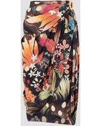 Lanvin Multicolour Printed Silk Skirt 36
