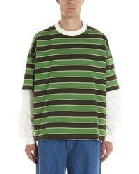 Sunnei - Layered Striped T-shirt - Lyst
