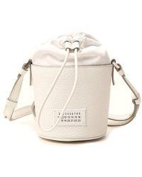 Maison Margiela 5ac Micro Bucket Bag - White