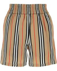 Burberry Icon Stripe Elasticated Waist Shorts - Natural