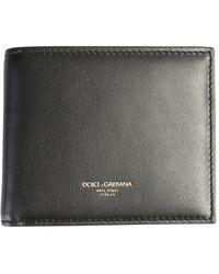 Dolce & Gabbana Logo Print Leather Wallet - Black