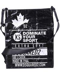 DSquared² Dominate Sport Logo Print Crossbody Bag - Black