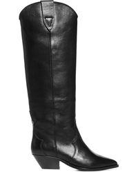 Isabel Marant Denvee Block Heel Boots - Black