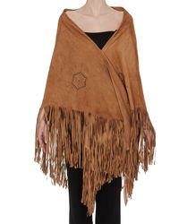 Golden Goose Deluxe Brand Fringed Cape - Brown