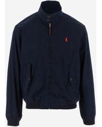 Polo Ralph Lauren Logo Embroidered Zip-up Jacket - Blue