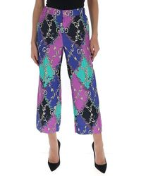Gucci Printed Cropped Trousers - Multicolour
