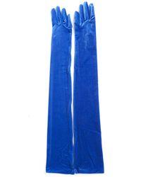 Balenciaga - Long Velvet Gloves - Lyst