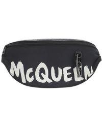 Alexander McQueen Graffiti Logo Harness Belt Bag - Black