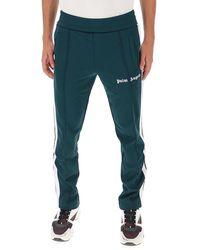 Palm Angels Logo Side Stripe Track Pants - Green