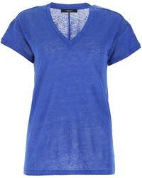 Weekend by Maxmara Zante V-neck T-shirt - Blue