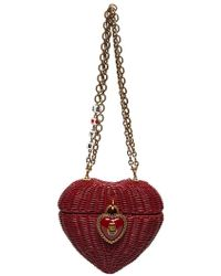 Dolce   Gabbana Rose-embellished Cross-body Heart Bag - Lyst 1d21bbceb5464