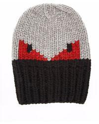 Fendi - Wool Bag Bugs Beanie - Lyst