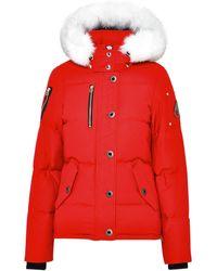 Moose Knuckles Navy Cotton Blend 3q Jacket - Red
