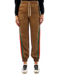 Gucci G Rhombus Side Striped Track Trousers - Natural
