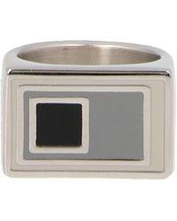 A_COLD_WALL* * Logo Engraved Ring - Metallic