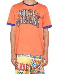 Dolce & Gabbana Logo T-shirt - Orange