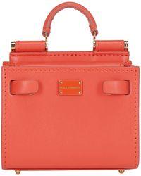 Dolce & Gabbana Micro Sicily 62 Handbag - Orange