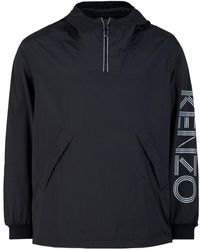 KENZO Logo Windbreaker - Black