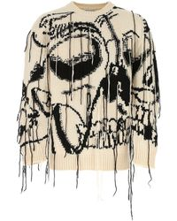 Alexander McQueen Exploded Skull Intarsia Sweater - Multicolor