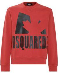 DSquared² Logo Print Crewneck Sweatshirt - Red