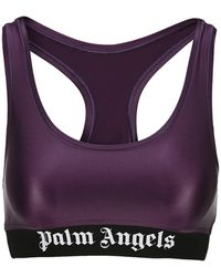 Palm Angels Logo Sports Bra - Purple