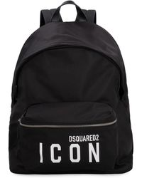 DSquared² Icon Logo Printed Backpack - Black