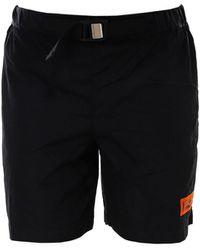 Heron Preston Belted Logo Shorts - Black