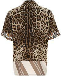 Dolce & Gabbana - Leopard Print Short-sleeve Shirt - Lyst