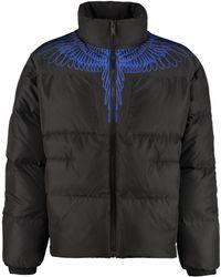 Marcelo Burlon Full Zip Padded Jacket - Black