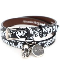 Alexander McQueen Skull Graffiti Wrap Bracelet - Multicolour