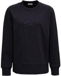 Moncler Black Cotton Sweatshirt With Logo