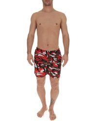 Prada Camouflage Swim Shorts - Red