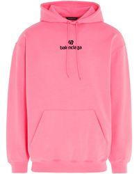 Balenciaga Sponsor Print Hoodie - Pink