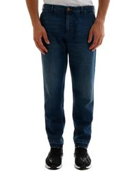 Gucci Classic Logo Embroidered Tapered Jeans - Blue