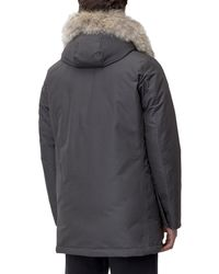 Woolrich Hooded Fur Trimmed Coat - Gray