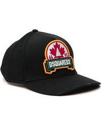 DSquared² Logo Patch Baseball Cap - Black