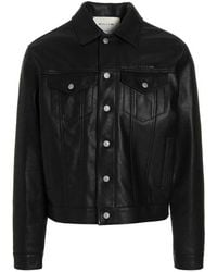 1017 ALYX 9SM Buttoned Leather Jacket - Black