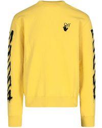 Off-White c/o Virgil Abloh Marker Arrows Sweatshirt - Yellow