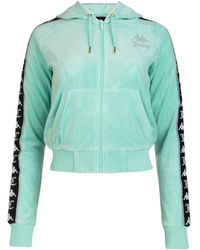 Kappa X Juicy Couture Side Logo Panal Zipped Jacket - Green