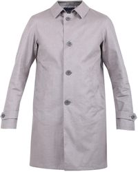 Herno Single Breasted Trench Coat - Grey