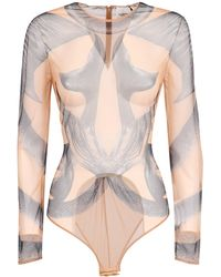 Burberry Mermaid Tail Print Tulle Bodysuit - Multicolour