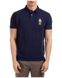 Polo Ralph Lauren Yachting Bear Polo Shirt - Blue