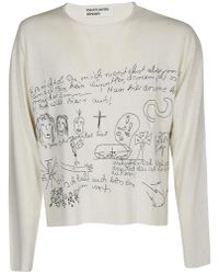 3c9b48972 Enfants Riches Deprimes Motherwell Crewneck in White for Men - Lyst