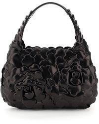 Valentino Garavani 03 Rose Edition Small Hobo Bag - Black