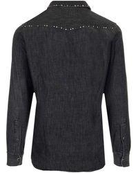 Golden Goose Studded Denim Shirt - Black