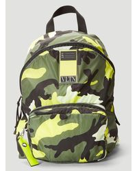 Valentino Vltn My Tag Camouflage Backpack - Yellow